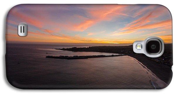 Pastel Sunset Above Santa Cruz Wharf Galaxy S4 Case by David Levy