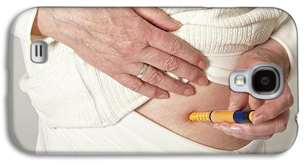 Patient Using An Autoinjector Galaxy S4 Case by Lea Paterson