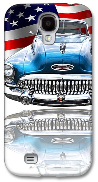 Patriotic Buick Riviera 1953 Galaxy S4 Case by Gill Billington