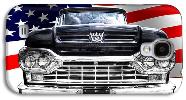 Patriotic Ford F100 1960 Galaxy S4 Case by Gill Billington