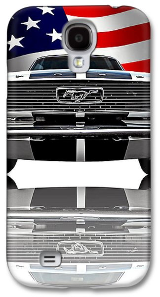 Patriotic Ford Mustang 1966 Galaxy S4 Case by Gill Billington