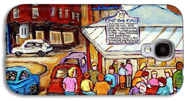 Pat's King Of Steaks Philadelphia Restaurant South Philly Italian Market Scenes Carole Spandau Galaxy S4 Case by Carole Spandau