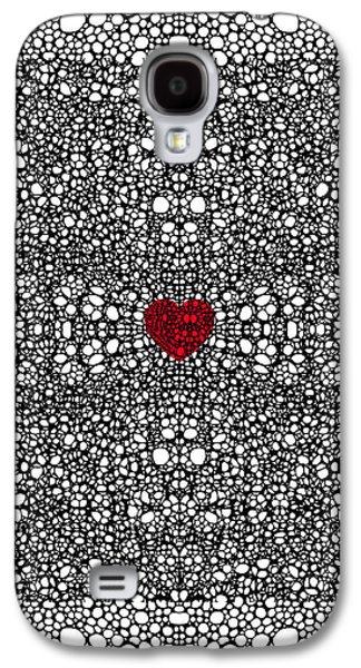 Pattern 19 - Heart Art - Black And White Exquisite Pattern By Sharon Cummings Galaxy S4 Case by Sharon Cummings