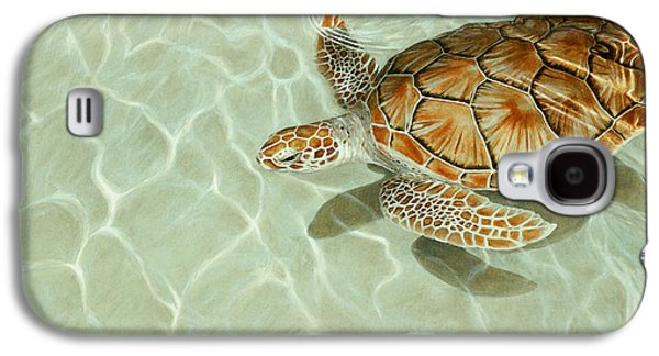 Patterns In Motion - Portrait Of A Sea Turtle Galaxy S4 Case by Rob Dreyer