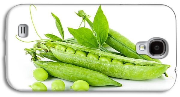Pea Pods And Green Peas Galaxy S4 Case by Elena Elisseeva