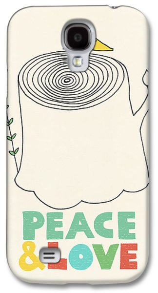 Peace And Love Galaxy S4 Case by Eric Fan