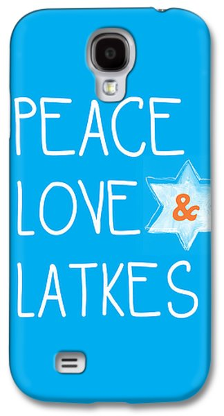 Peace Love And Latkes Galaxy S4 Case
