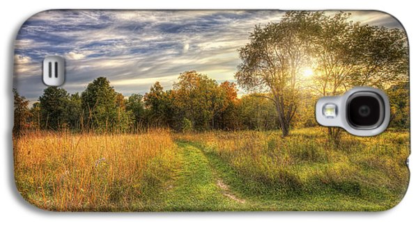 Peace On The Prairie - Fall Sunset At Retzer Nature Center In Waukesha Wisconsin Galaxy S4 Case