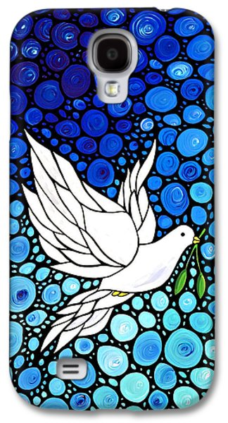 Peaceful Journey - White Dove Peace Art Galaxy S4 Case by Sharon Cummings