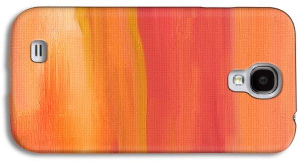 Peach Floral Galaxy S4 Case by Lourry Legarde