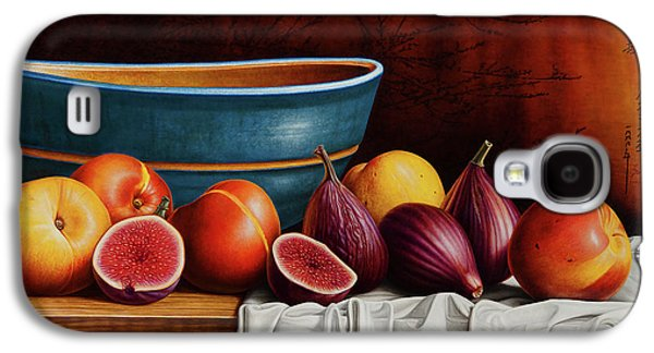 Peach Galaxy S4 Case - Peaches And Figs by Horacio Cardozo