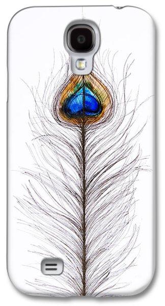 Peacock Abstract Galaxy S4 Case by Tara Thelen