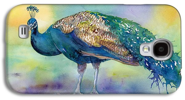 Peacock Galaxy S4 Case - Peacock by Amy Kirkpatrick