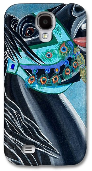 Peacock Carousel Horse Galaxy S4 Case by Debbie LaFrance