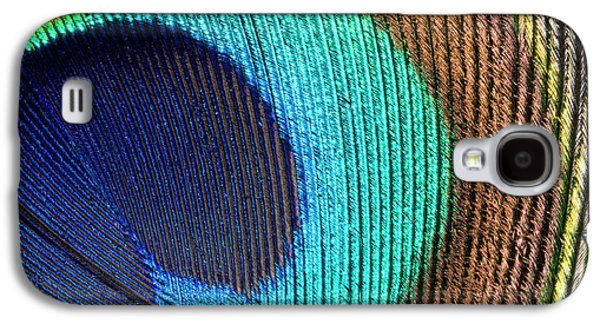 Peacock Feather Abstract Galaxy S4 Case by Nigel Downer