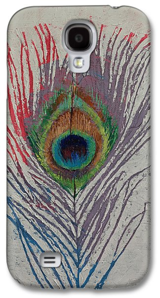 Peacock Feather Galaxy S4 Case by Michael Creese
