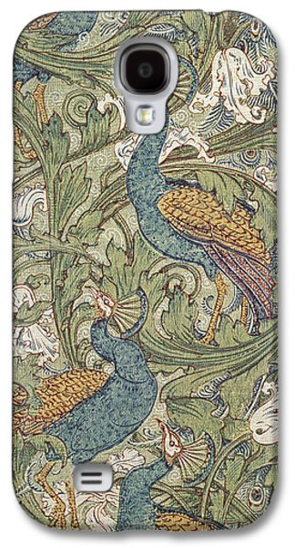 Peacock Garden Wallpaper Galaxy S4 Case by Walter Crane