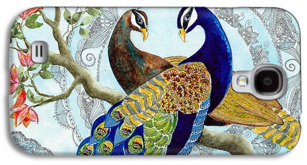Peacock Love Galaxy S4 Case by Susy Soulies
