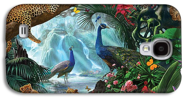 Peacocks And Leopards Galaxy S4 Case