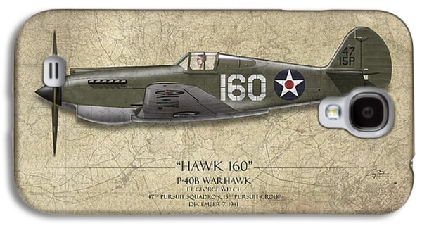 Pearl Harbor P-40 Warhawk - Map Background Galaxy S4 Case