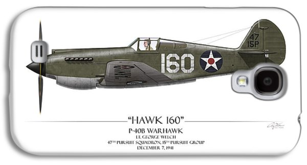 Pearl Harbor P-40 Warhawk - White Background Galaxy S4 Case