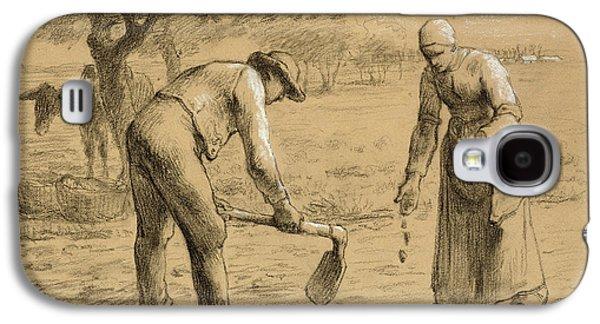 Peasants Planting Potatoes  Galaxy S4 Case