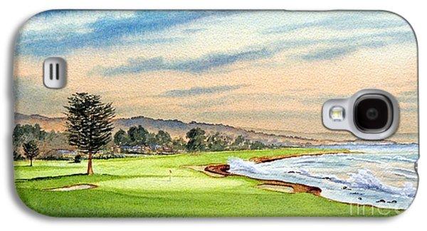 Pebble Beach Golf Course 18th Hole Galaxy S4 Case by Bill Holkham