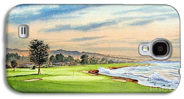 Pebble Beach Golf Course 18th Hole Galaxy S4 Case by Bill Holkham