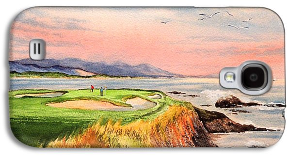 Pebble Beach Golf Course Hole 7 Galaxy S4 Case by Bill Holkham