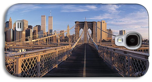 Pedestrian Walkway Brooklyn Bridge New Galaxy S4 Case by Panoramic Images