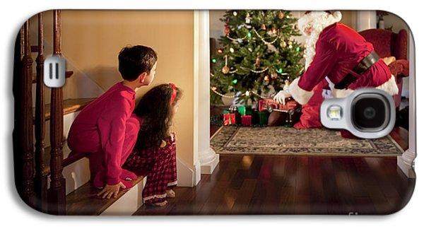 Peeking At Santa Galaxy S4 Case by Diane Diederich