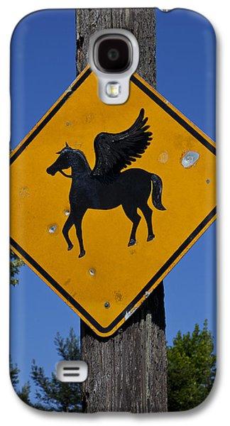 Pegasus Road Sign Galaxy S4 Case