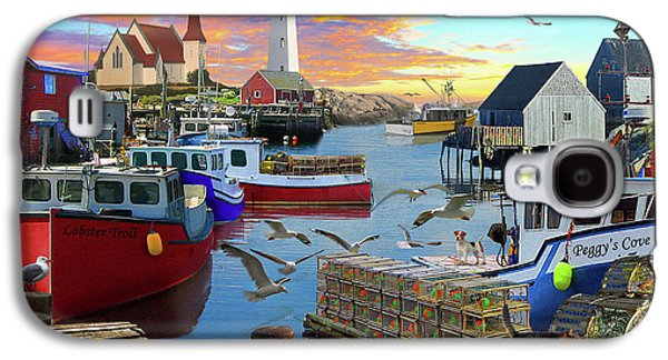 Galaxy S4 Case featuring the drawing Peggys Cove by David M ( Maclean )