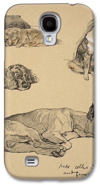 Peke, Collie, Spaniel And German Boxer Galaxy S4 Case by Cecil Charles Windsor Aldin
