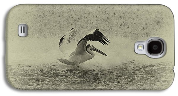 Pelican Landing In Black And White Galaxy S4 Case by Thomas Young