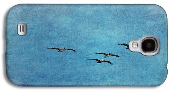 Pelicans In Flight Galaxy S4 Case