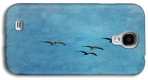 Pelicans In Flight Galaxy S4 Case