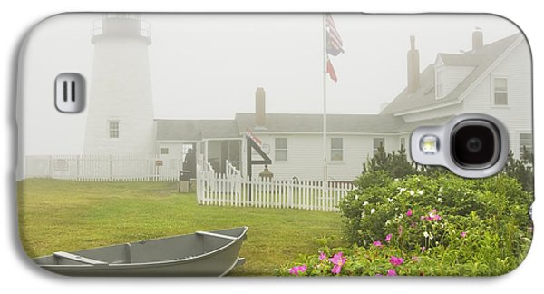 Pemaquid Point Lighthouse In Fog Maine Prints Galaxy S4 Case by Keith Webber Jr