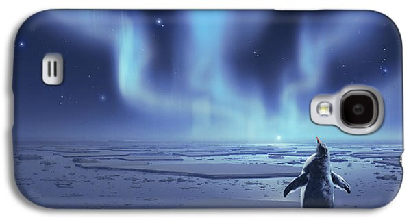 Penguin Dreams Galaxy S4 Case by Cassiopeia Art