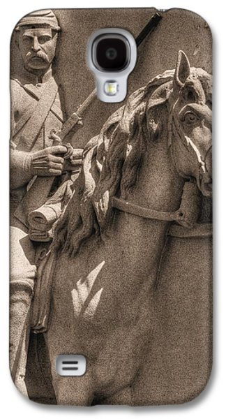 Pennsylvania At Gettysburg - 17th Pa Cavalry Regiment - First Day Of Battle Galaxy S4 Case by Michael Mazaika