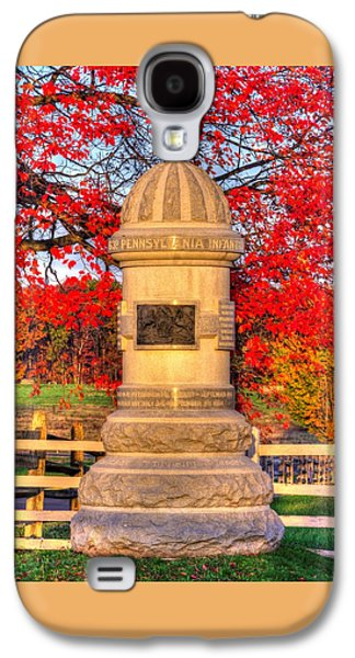 Pennsylvania At Gettysburg - 63rd Pa Volunteer Infantry - Sunrise Autumn Steinwehr Avenue Galaxy S4 Case by Michael Mazaika