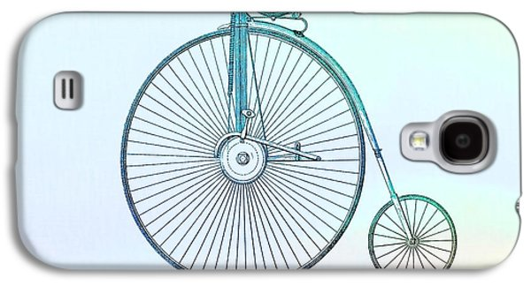 Penny-farthing Bicycle Color Galaxy S4 Case by Dan Sproul