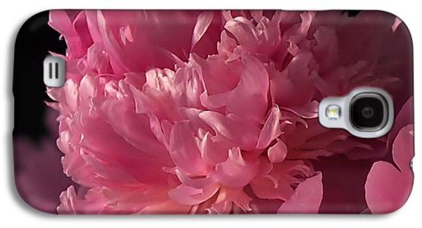 Peony Galaxy S4 Case by Rona Black