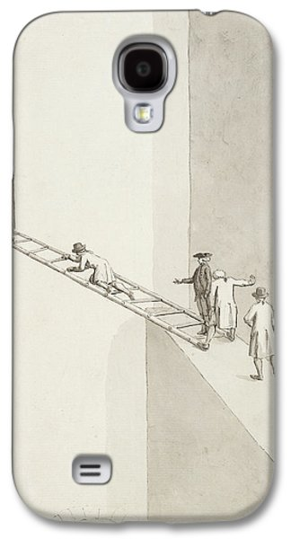 People Climbing Across A Gap Galaxy S4 Case by British Library
