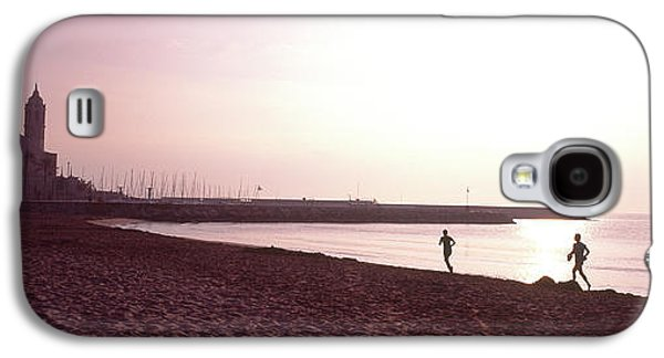 People Jogging On Beach, Sitges Galaxy S4 Case by Panoramic Images