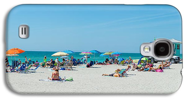 People On The Beach, Venice Beach, Gulf Galaxy S4 Case by Panoramic Images