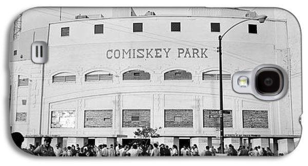 People Outside A Baseball Park, Old Galaxy S4 Case by Panoramic Images