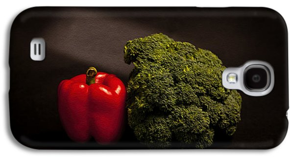 Broccoli Galaxy S4 Case - Pepper Nd Brocoli by Peter Tellone