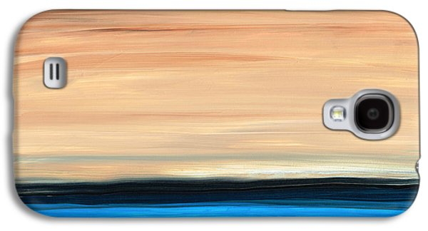 Perfect Calm - Abstract Earth Tone Landscape Blue Galaxy S4 Case by Sharon Cummings
