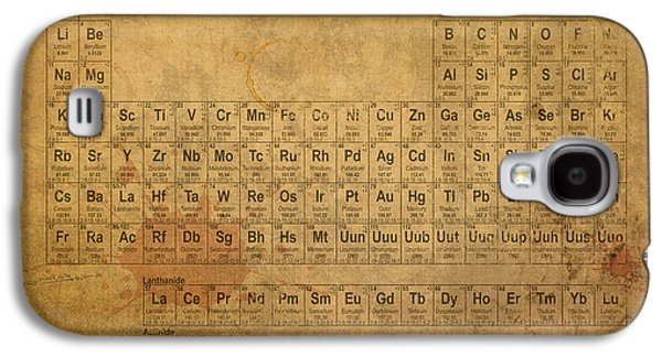 Periodic Table Of The Elements Galaxy S4 Case by Design Turnpike